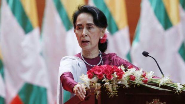 Myanma lideri Auy San Su rohinca müsəlmanları ilə bağlı ilk dəfə çıxış edib