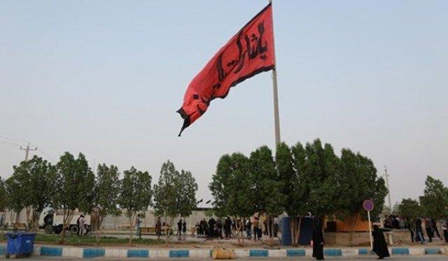 İran İraq ilə sərhəddə nəhəng İmam Hüseyn (ə) bayrağı qaldırdı
