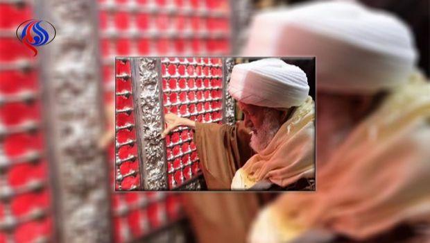 Şeyx İsa Qasimi İmam Hüseynin (ə) pak hərəmini ziyarət etdi