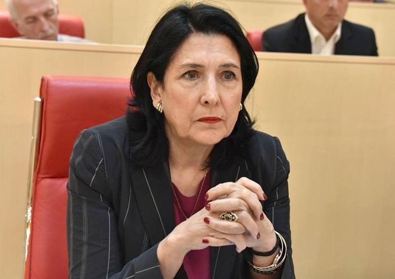 Salome Zurabişvili Rusiyaya müraciət edib