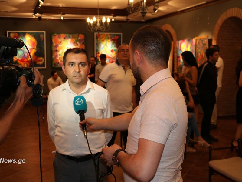 Rizvan İsmayılın xeyriyyə rəsm sərgisi baş tutdu (FOTO)