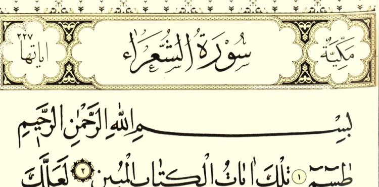 Allah 'Şüəra' surəsini oxuyana...