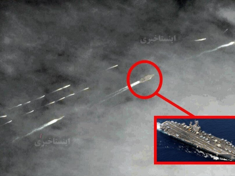 İranın hərbi gəmiləri ABŞ-ın 12-ci təyyarə daşıyıcı qrupunu mühasirəyə aldı