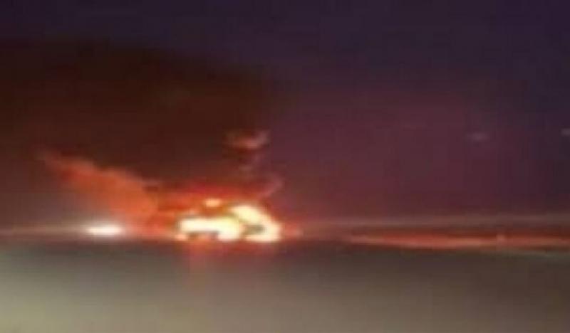 İraqda ABŞ ordusunun hərbi maşın və avadanlıqlarını daşıyan vasitələr yandırıldı