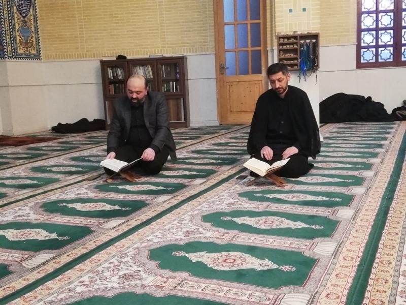 Marneuli İmam Hüseyn (ə) adına olan məsciddə Quran və əza mərasimi keçirilib (Foto)