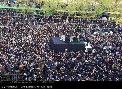 Ayətullah Rəfsəncani İmam Xomeyni (r.ə) məqbərəsində torpağa tapşırıldı (Foto)