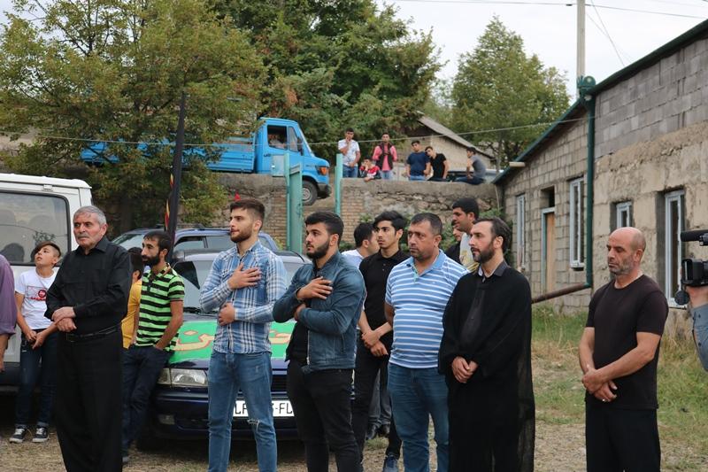 Faxralı kəndində əza mərsimi keçirildi (Foto)